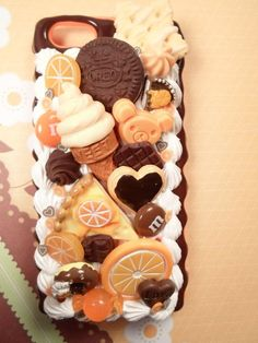 Chocolate Valencia Kawaii Decoden Deco Case for by Lucifurious, $38.00