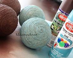 Decorative hemp balls tute from Make It and Love It.  Love it, I do!