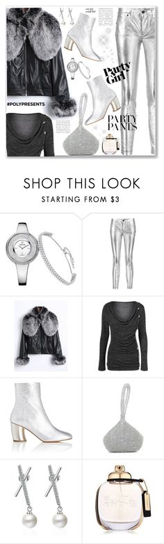 """""""#PolyPresents: Fancy Metallic Pants"""" by jecakns ❤ liked on Polyvore featuring RtA, Proenza Schouler and Coach"""