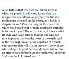 SubhanAllah this is truly beautiful ❤️ makes my hair stand mashaAllah Allah Quotes, Muslim Quotes, Quran Quotes, Religious Quotes, Hadith, Alhamdulillah, Islamic Inspirational Quotes, Islamic Quotes, Religion