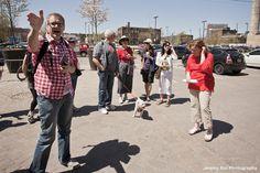 "Jane's Walk 2013: Toronto, Ontario, Canada - ""NOT the history of Liberty Village"" - Guided by Lori &  Rodney Hoinkes - Photo by Jeremy Kai - http://www.janeswalk.net/"