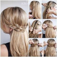 Peinado semirecogido con trenzas - Moda femenina