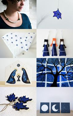 Christmas is Blue by Inês Fonseca on Etsy--Pinned with TreasuryPin.com #PTteamEtsy #ChristmasColorsProject #EtsyEurope #Portugal