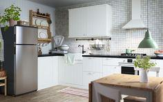 Cucine Ikea 2018 - Cucina bianca con piano in legno | Pinterest ...