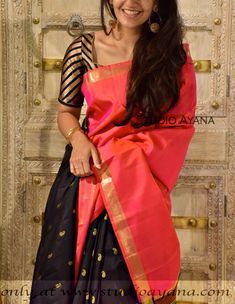 Peach Pure Handloom Uppada Silk Saree for Online Shopping Kanjivaram Sarees Silk, Soft Silk Sarees, Cotton Saree, Ikkat Saree, Georgette Sarees, Indian Bridal Sarees, Bridal Silk Saree, Organza Saree, Wedding Sarees