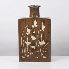 Jim Malone Ceramics (British: 1946) - Slab Bottle