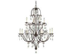 Feiss Chateau Mocha Bronze 36'' Wide 12-Light Chandelier