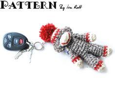 Ima lil Monkey Key Chain - Crochet PDF Pattern