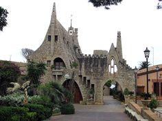 Bodegas Güell, Sitges, Gaudi buildings, Spain