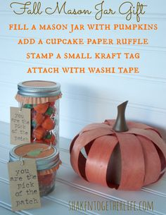 Fall Mason Jar Gift at shakentogetherlife.com