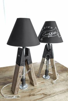 Creating Junky Sawhorse Pipe Chalkboard Shade Lamps! On a Dare... :: Hometalk