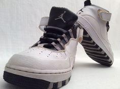 AIR JORDAN FUSION SIZE 5.5Y WHITE BLACK STEEL GREY VERY RARE #Nike #BasketballShoes