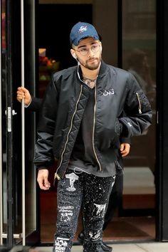 Zayn all stylish wearing an Arabic Military black jacket