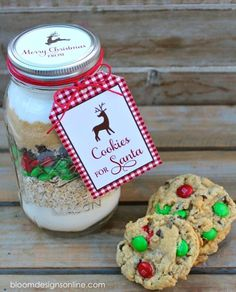 Make It Monday- Cookies For Santa Jars