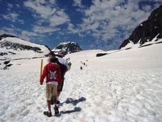 Hiking Logan Pass, Glacier National Park.