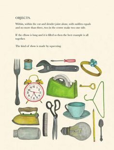 Tender Buttons: Gertrude Stein's Vintage Verses About Objects, Illustrated by Lisa Congdon