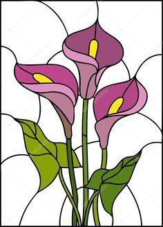 Descargar - Ramo de flores de lirio — Ilustración de stock #82358058