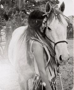 Horse, white, girl, freedom, bohemian, boho