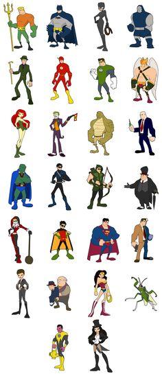 D.C. Comics alphabet series done by jksketch on deviantART
