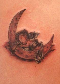 Fantastic Cherub Tattoo Design