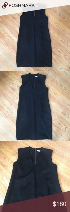 Helmut Lang dress Lovely black dress by Helmut Lang. The stitching is beautiful and very elegant. Wool exterior with a silky lining. There are front pockets. It's great for work and can be dressed up for a cocktail party. Size 6. Helmut Lang Dresses