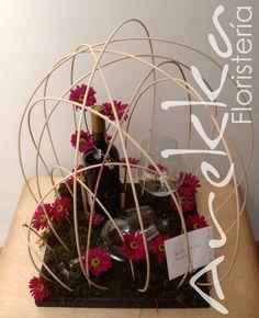 Flores + Vino  + Copas