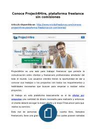Conoce Project4Hire, plataforma freelance sin comisiones
