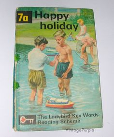 Vintage Ladybird book Happy Holiday Key Words Reading Scheme 7a 1964
