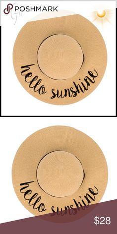 8ea990273bc2 💐🆕Hello Sunshine Floppy Beach Hat In Tan Hello Sunshine Floppy Beach Hat  In Tan