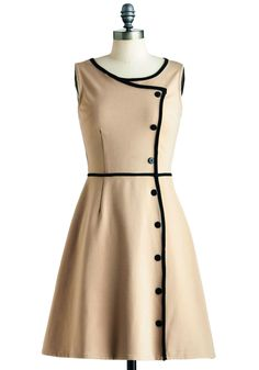 Chord-ially Yours Dress. As you approach the eighty-eight keys on the grand piano before you, youre completely focused on the impending performance. #tan #modcloth