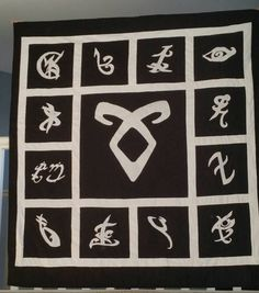 Shadowhunter Rune Quilt based on The Mortal by PlaidPlatypusGifts