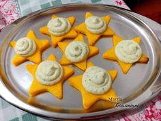 Stelle di polenta con mousse di baccalà