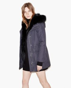 Parka with fur hood - Coats and Short Jackets - The Kooples