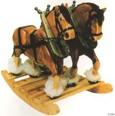 What's better than one rocking horse? Two rocking horses!
