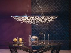 Cattelan Italia Pendelleuchte Cristal kaufen im borono Online Shop Cool Lighting, Pendant Lighting, Italian Furniture Stores, Ceiling Lamp, Ceiling Lights, Round Chandelier, Lighting Concepts, Elegant Dining Room, Lighting Manufacturers