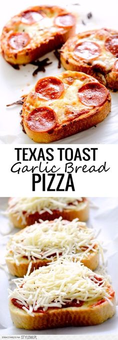 Texas Toast Garlic Bread Pizza Recipe | Buzz Inspired