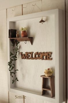 Miniature Welcome Board