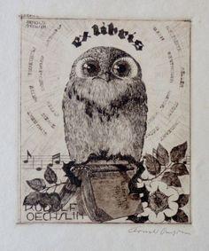 . Ex Libris, Book Cover Art, Book Art, Locuciones Latinas, Personalized Books, Animal Totems, Handmade Books, Bookbinding, Book Illustration