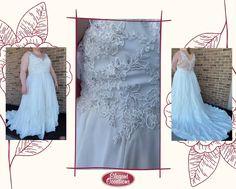 Plus Size A Line Chiffon Wedding Dress with Layered Skirt & Dramatic Back | OLIVIA #ImAtEO #elegantoccasions #weddingdress #weddingdresses #weddinggown #weddinggowns #bridalgown #bridalgowns #alineweddingdress #chiffonweddingdress #layeredskirt #dramaticback #sweetheartneckline #rhinestones #appliques #embroidery #plussize #plussizeweddingdress #plussizebride #bride #EObride #wisconsinbride #bridetobe #engaged #sayyestothedress #ido #misstomrs #wausauwisconsin #wisconsinwedding Bridal Dresses, Wedding Gowns, Store Layout, Bridal Suite, Yes To The Dress, Layered Skirt, Plus Size Wedding, Elegant Dresses, Appliques