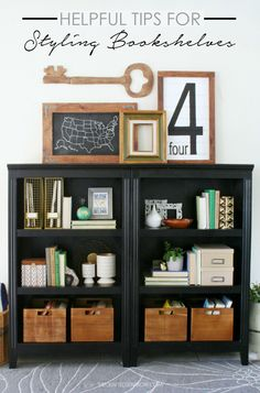 Helpful Tips for Styling Bookshelves - thecraftedsparrow.com
