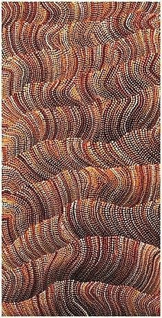 Maureen Hudson Nampijinpa Another amazing Aboriginal artist. Just imagine the patience needed to paint all those dots to create this landscape.