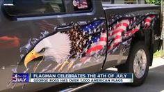 Spaghetti Tank Proud American Bald Eagle US Flag Royal Lion Jr