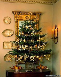 martha stewart christmas tree lovely great for an entry Tabletop Christmas Tree, Small Christmas Trees, Noel Christmas, All Things Christmas, Winter Christmas, Christmas Tree Decorations, Christmas Crafts, Wheat Decorations, Polish Christmas