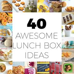 Discover 40 awesome and easy lunch box ideas that your kids will love to eat, and you can easily whip up for them. Easy Lunch Boxes, Lunch Box Recipes, Lunch Snacks, Lunch Ideas, Kids Lunchbox Ideas, Healthy Snacks, Kid Recipes, Recipies, Dinner Recipes