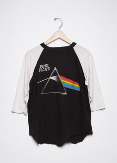 Awesome Pink Floyd tee circa '87. Features prism graphic on front with tour dates on back.