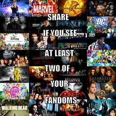 Harry Potter, Hunger Games, Disney, Once Upon A Time, etc.