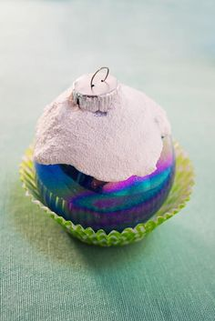 Frosted Cupcake DIY Ornament   Your Christmas tree will look positively delectable with this amazing