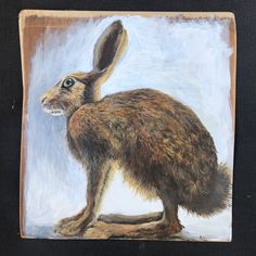 Acrylic on board Hare, Moose Art, Pictures, Painting, Animals, Photos, Animales, Animaux, Photo Illustration
