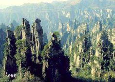 The Wulingyuan rocky peaks  country : China