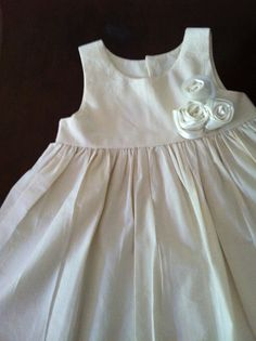 Flower girl dress  with ROSES and SATIN handmade by gillygray, $65.00